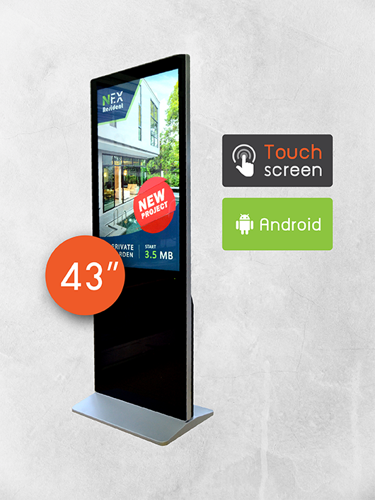 Digital Signage Kiosk ขนาด 43 นิ้ว แบบสัมผัส ด้านหลัง