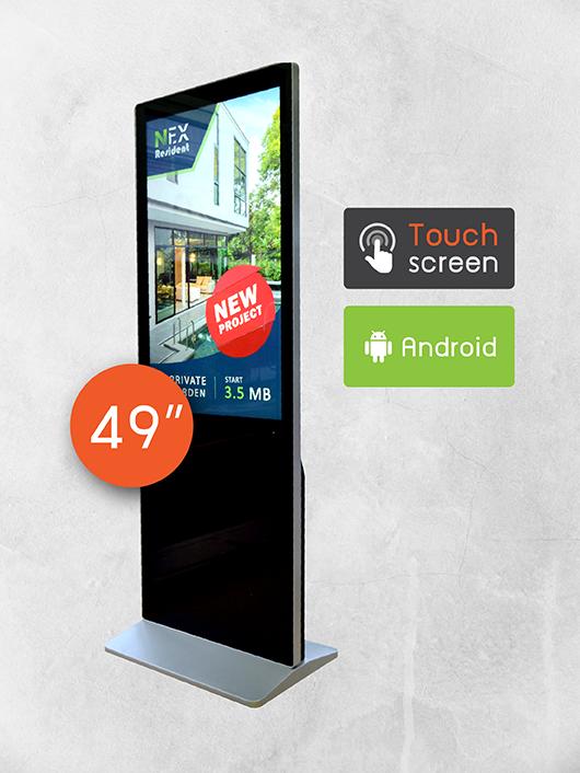 Digital Signage Kiosk ขนาด 49 นิ้ว แบบสัมผัส ด้านหลัง