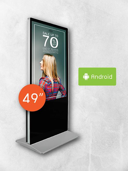 Digital Signage Kiosk ขนาด 49 นิ้ว ด้านหลัง