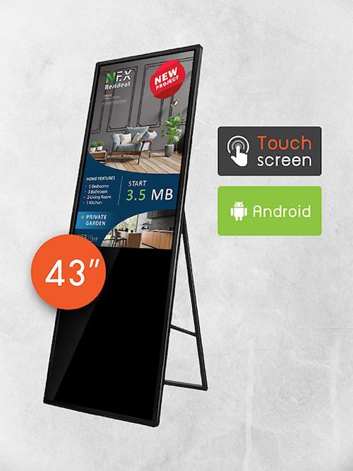 "43"" Portable Signage TV (ระบบสัมผัส)"