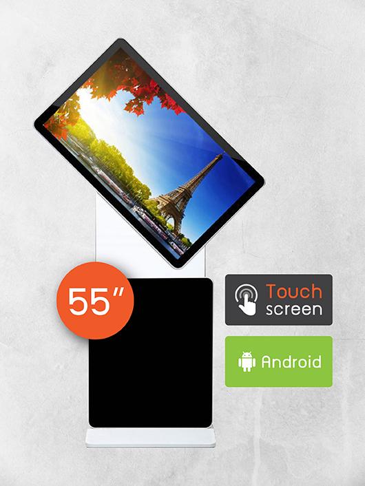 "55"" Rotating Screen Kiosk (ระบบสัมผัส)"