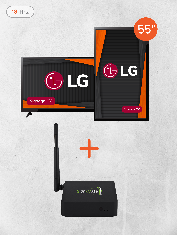 "55"" LG Digital Signage TV 18 Hrs (ฟรีซอฟต์แวร์ Signnex)"