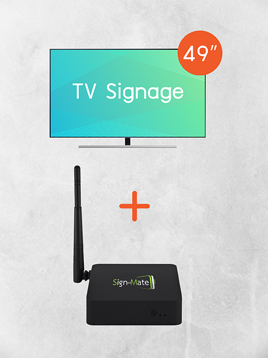 Digital Signage Kiosk ขนาด 49 นิ้ว